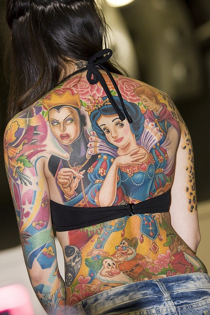 More tattoos from Cartoon category. disney-princess