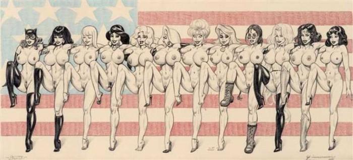 комикс девушки голые